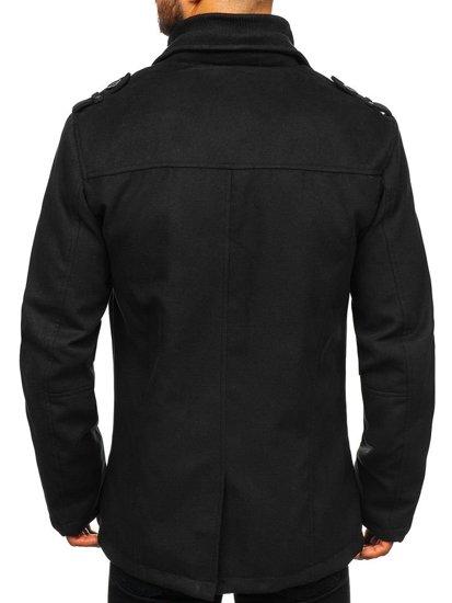 Čierny pánsky zimný kabát BOLF 8853