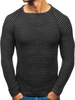 Antracitový pánsky sveter BOLF 152