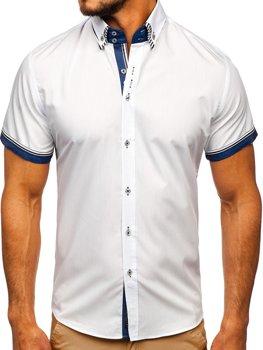 Biela pánska košeľa s krátkymi rukávmi Bolf 2911-1
