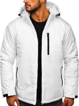 Biela pánska športová lyžiarská zimná bunda Bolf HH011