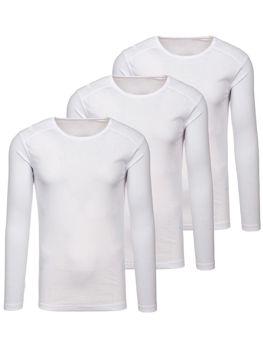 Biele pánske tričko bez potlače BOLF C10038-3P 3 KS