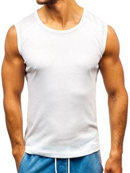 Biele pánske tričko bez potlače BOLF C3066