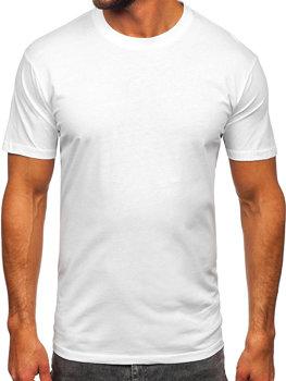 Biele pánske tričko bez potlače Bolf 14291