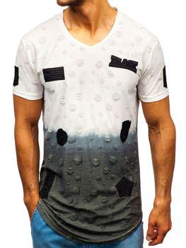 Biele pánske tričko s potlačou BOLF 318