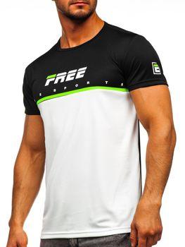 Biele pánske tričko s potlačou Bolf  SS10996