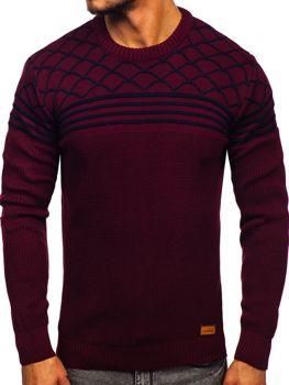Bordový pánsky sveter Bolf 3017