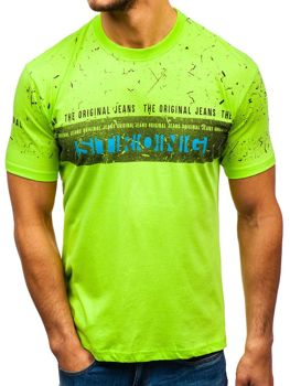 Celadenové pánske tričko s potlačou BOLF 14204