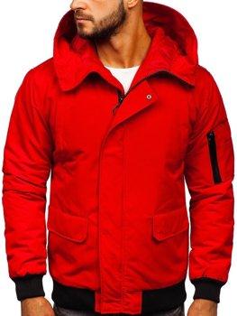 Červená pánska prechodná bunda Bolf 2019005