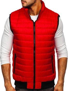 Červená pánska prešívaná vesta Bolf MY77