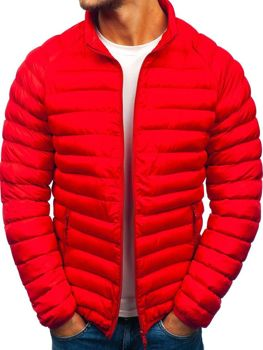 489e05675dea9 Červená pánska športová zimná bunda BOLF SM53-A