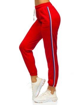 Červené dámske tepláky Bolf YW01020