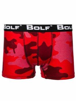 Červené maskáčové pánske boxerky BOLF 0953-2