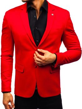 Červené pánske elegantné sako BOLF 191060