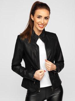 Čierna dámska koženková bunda Bolf 20R8