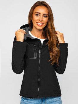 Čierna dámska softshellová prechodná bunda BOLF 9055