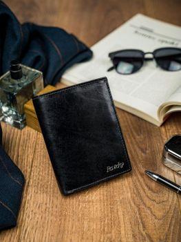 Čierna pánska kožená peňaženka 4514
