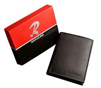 Čierna pánska kožená peňaženka 602