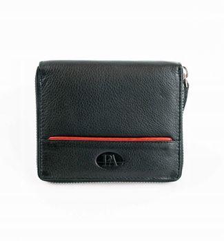 Čierna pánska kožená  peňaženka 871