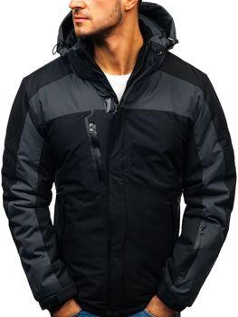 Čierna pánska lyžiarska zimná bunda BOLF HZ8112