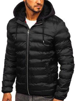 Čierna pánska prechodná bunda Bolf 5332