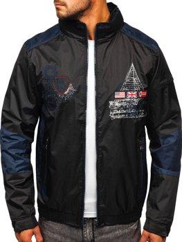 Čierna pánska prechodná bunda Bolf 743