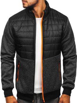 Čierna pánska prechodná bunda Bolf TY51