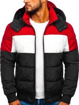 Čierna pánska prešívaná športová zimná bunda Bolf Jk396