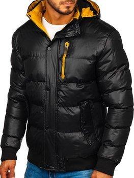 Čierna pánska prešívaná zimná bunda Bolf  5839