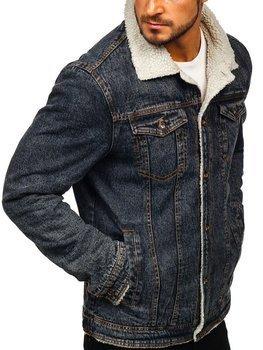 Čierna pánska rifľová bunda Bolf 1109