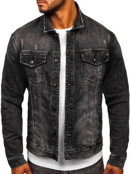 Čierna pánska rifľová bunda Bolf XSF78267
