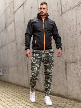 Čierna pánska softshellová prechodná bunda Bolf KS2185