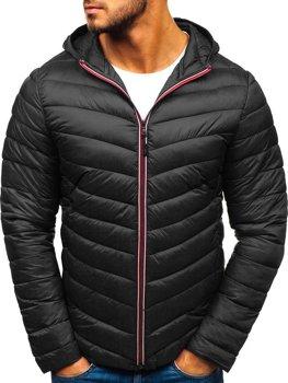 Čierna pánska športová prechodná bunda BOLF LY1016