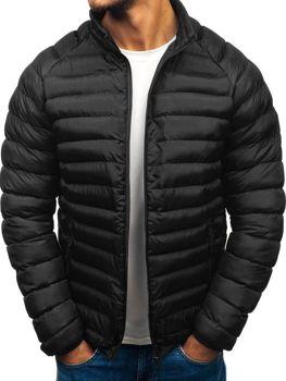 Čierna pánska športová zimná bunda BOLF SM53-A d69abf831b4