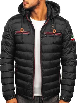 Čierna pánska športová zimná bunda Bolf 50A172