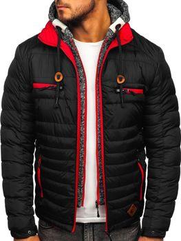 Čierna pánska športová zimná bunda Bolf 50A93