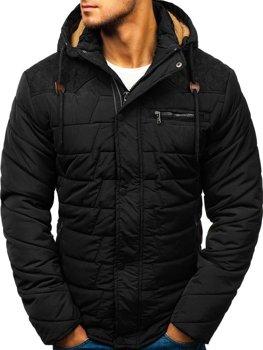 Čierna pánska zimná bunda BOLF 1673