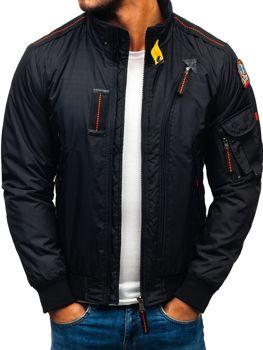 Čierna pánska zimná bunda BOLF 4944