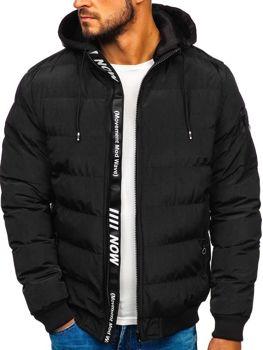 Čierna pánska zimná bunda Bolf 5894