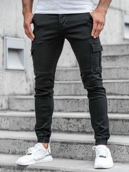 Čierne pánske jogger nohavice BOLF 2039