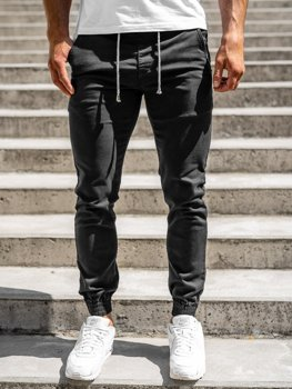 Čierne pánske jogger nohavice Bolf CT8808