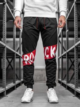 01d08b5b8916 Čierne pánske teplákové joggery BOLF MK11