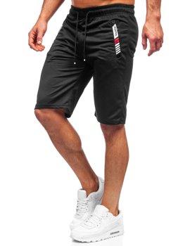 Čierne pánske teplákové šortky Bolf JX391