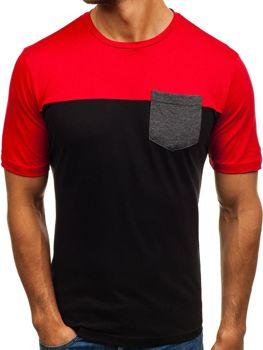 Čierne pánske tričko s potlačou BOLF 6309