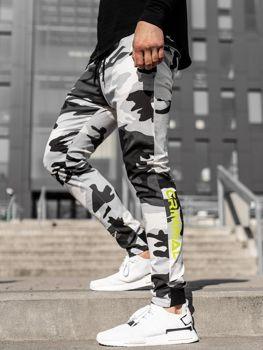 Čierno-biele pánske joggery Bolf 11119