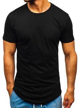 Čierno pánske tričko bez potlače BOLF 1207