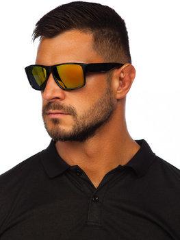 Čierno-zlaté slnečné okuliare Bolf PLS4