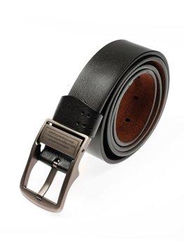 Čierny pánsky kožený opasok BOLF P007