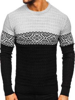 Čierny pánsky sveter Bolf 309