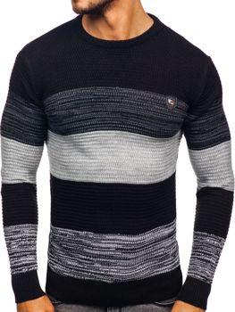 Čierny pánsky sveter Bolf 4000