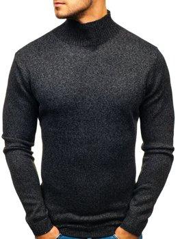 Čierny pánsky sveter / rolák BOLF H1801